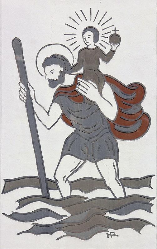 Sgraffito von Hermann Ruff